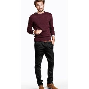 Black Brown 1826 Crewneck Knitted Sweater